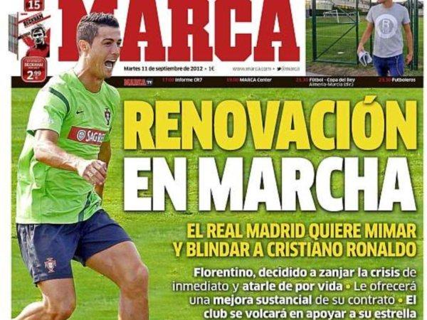 Generoso aumento de Real Madrid a Cristiano Ronaldo