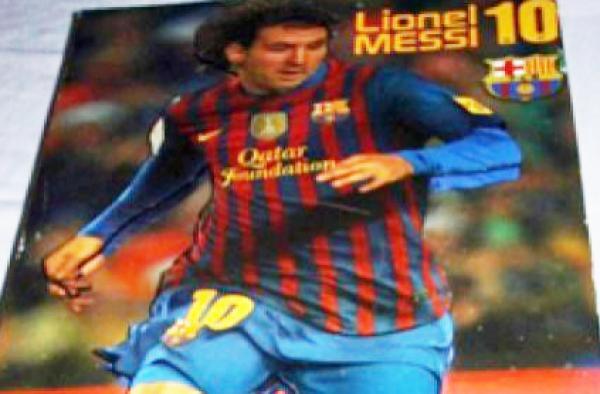 Usaban cuadro de Lionel Messi para transportar droga