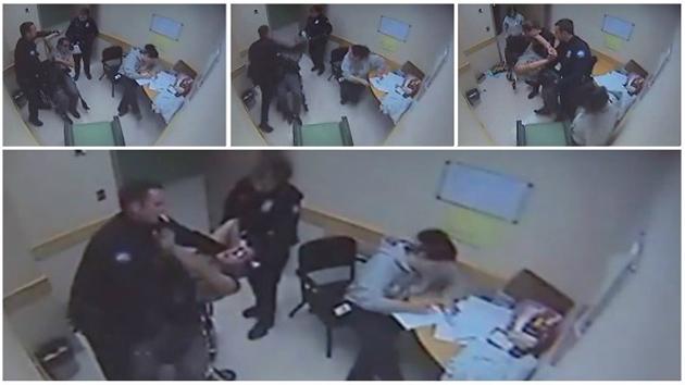 Video: Policía da una paliza a un hombre en silla de ruedas