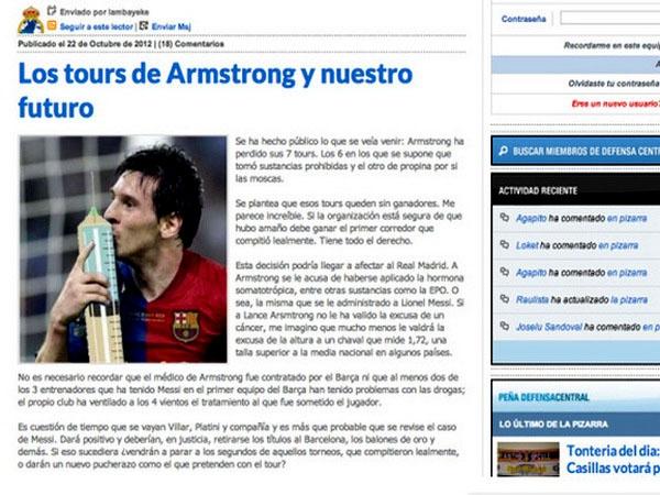 Gran polémica ¿El Barcelona facilita drogas a Lionel Messi?