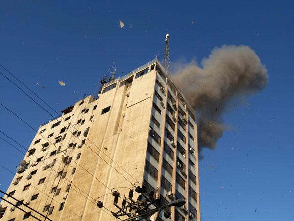 Video: Así fue el ataque de Israel contra el canal Al-Aqsa