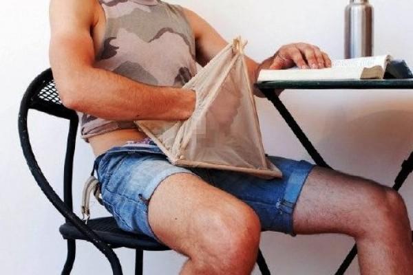 A la venta una 'carpa' de mano para masturbarse en público