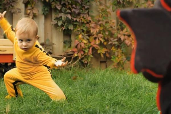 Video furor: Dragon Baby, el bebé karateca