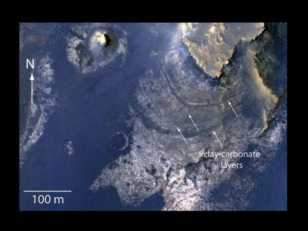 Hallan un antiguo lago en Marte