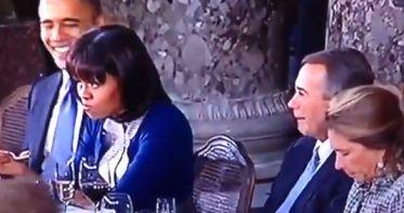 Video: el gesto de Michelle Obama furor en internet