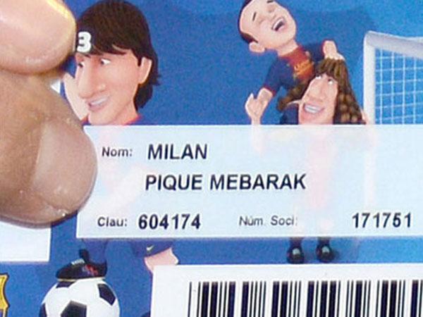 Milan Piqué Mebarak ya es socio del Barça