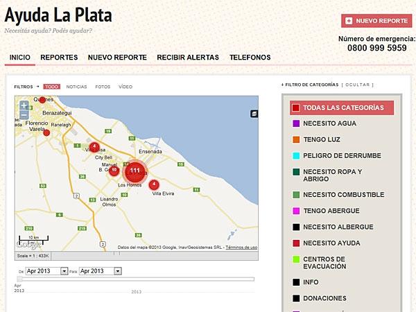 Página web para ayudar a damnificados por las lluvias en La Plata