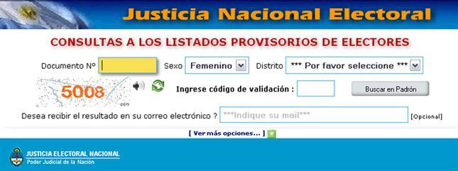 Padrón electoral elecciones 2013 - Dónde votar