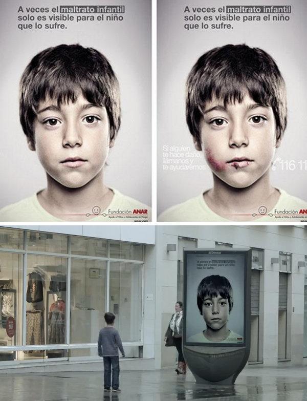 Espectacular anuncio 3D contra el maltrato infantil - Video
