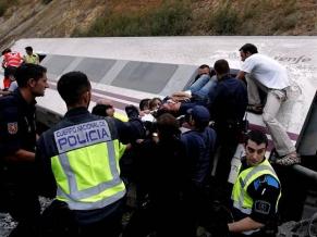 Video: Así descarriló el tren en Santiago de Compostela, España