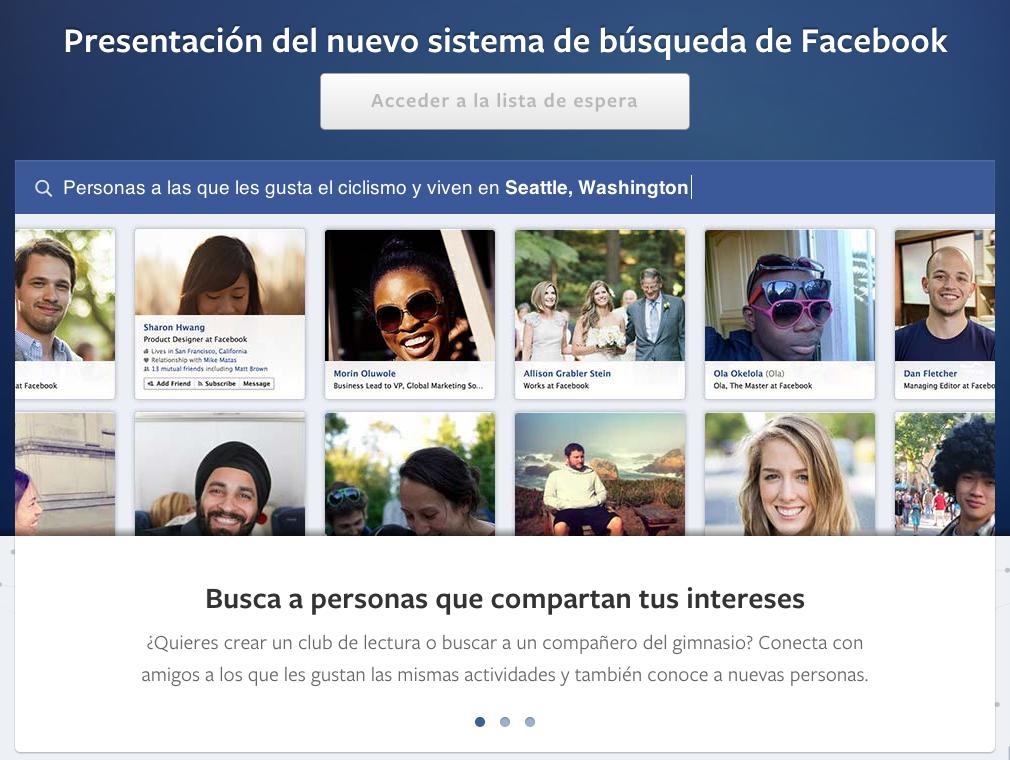 Así es el nuevo buscador de Facebook